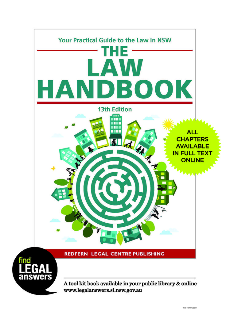 Law handbook flyer.  Use this to promote the Law handbook, and the fact that it is available in full text online. Print copies as needed.