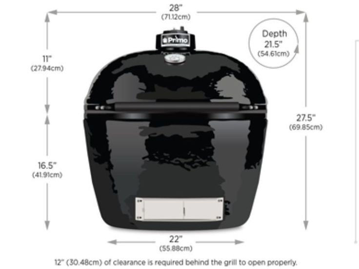 Primo Oval XL 400 Ceramic Smoker Grill model #PRM788 WE WILL BEAT ANY PRICE