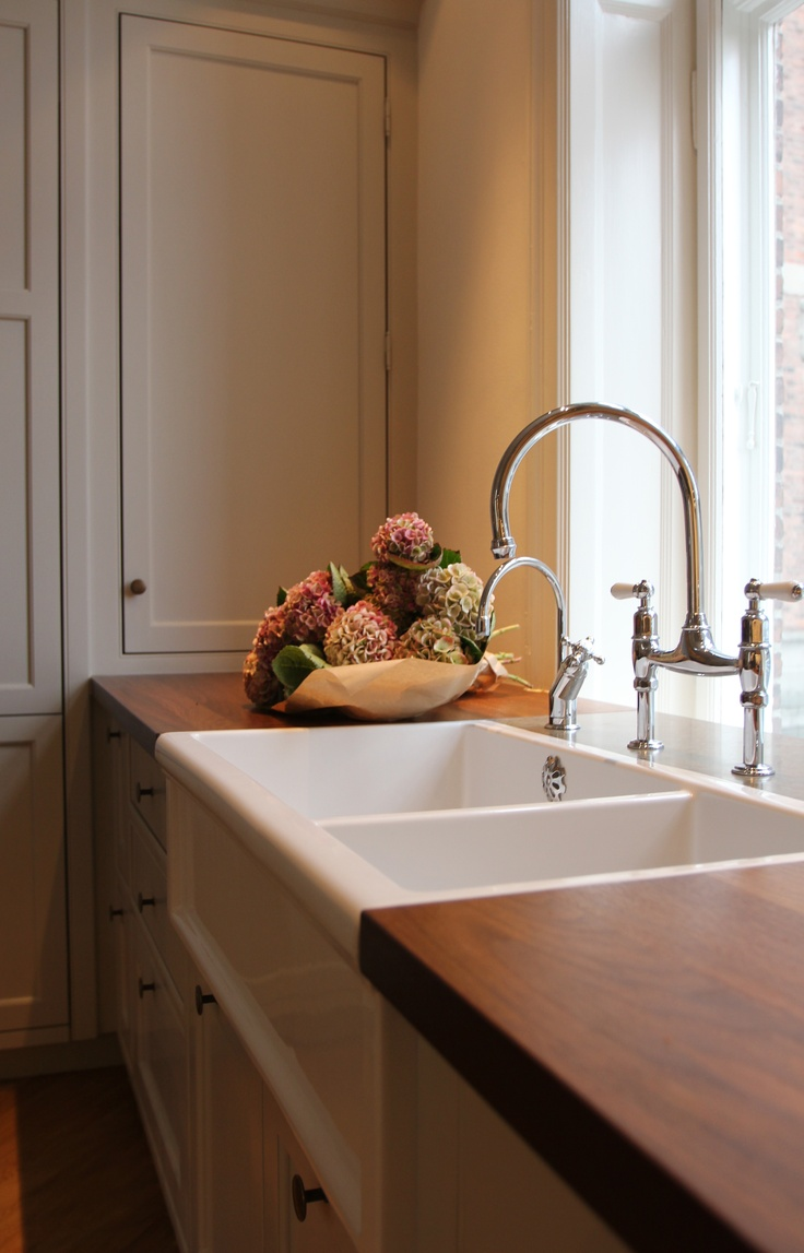Reserved for valry fetrow wooden cornice primitive picture - Love The Wood Countertop Luberon Porcelain Sink From Aquadomo Kitchen Design By Kitchen Tailor