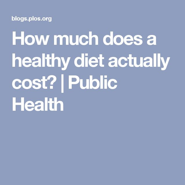 How much does a healthy diet actually cost? | Public Health