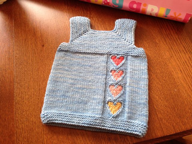 JaneEyre9's Emma's Milo-so simple, could use duplicate stitch to fill those hearts or whatever design you want to knit in.