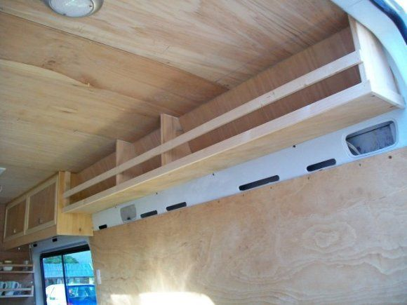 Shelves for side walls // #vanlife #travel #diy