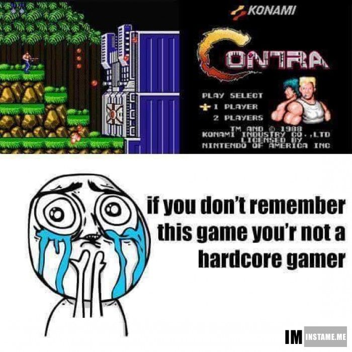 Remember this game?  #instameme #contra #hardcoregamer https://play.google.com/store/apps/details?id=com.fawesome.instameme (BATWOMAN)