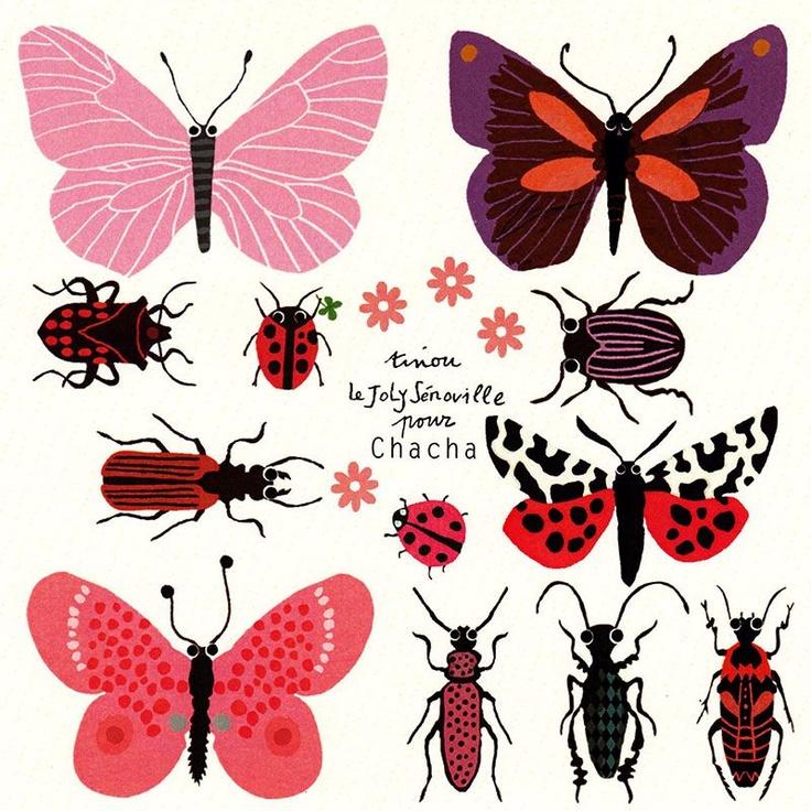 Aufkleber Insekten (Les Insectes) Design von Tinou. Insects. Poster.