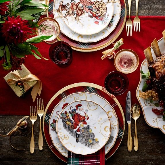 William Sonoma Christmas 2020 Red Tartan Charger Plate | Williams Sonoma in 2020 | Christmas