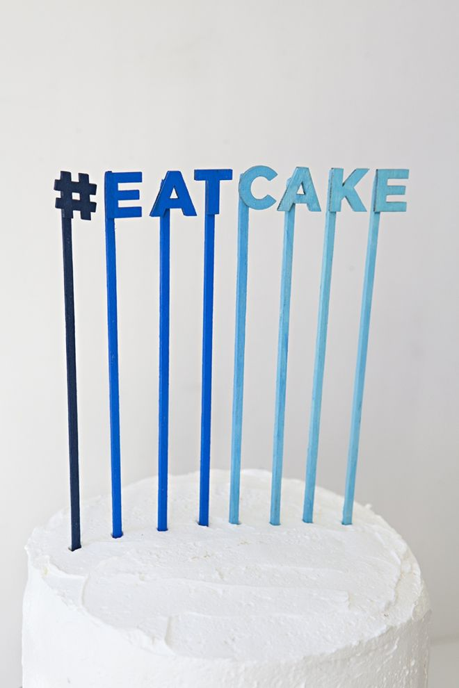 DIY these fun cake toppers with #marthastewartcrafts paints #12monthsofmartha