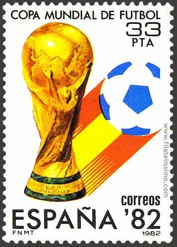 Sello conmemorativo de la Copa Mundial de Fútbol 1982