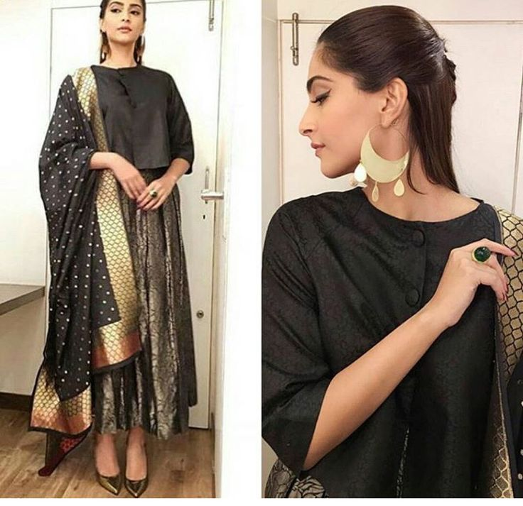 Just a simple large pair of earrings for Sonam to accompany this elegant outfit!