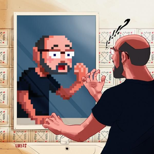 Woke up this morning, feeling pixelated... By Luis Cavaco