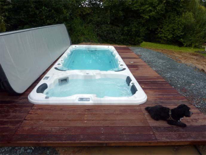 Les 25 meilleures id es de la cat gorie spa de nage sur for Construction piscine nord