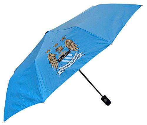 Manchester City Official Licensed - Paraguas de golf, color azul - http://comprarparaguas.com/baratos/golf/manchester-city-official-licensed-paraguas-de-golf-color-azul/