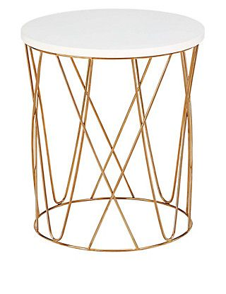 Captivating Lena Copper Side Table