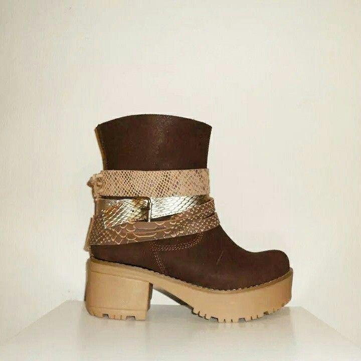Boots Urbano Material: gabon café moro