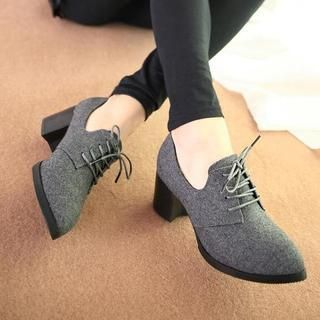 Buy 'HotBoot – Lace-Up Heeled Oxfords' with Free International Shipping at YesStyle.com. Browse and shop for thousands of Asian fashion items from China and more!