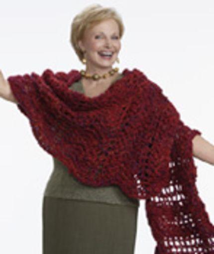Wavy Shawl Crochet Pattern | Red Heart