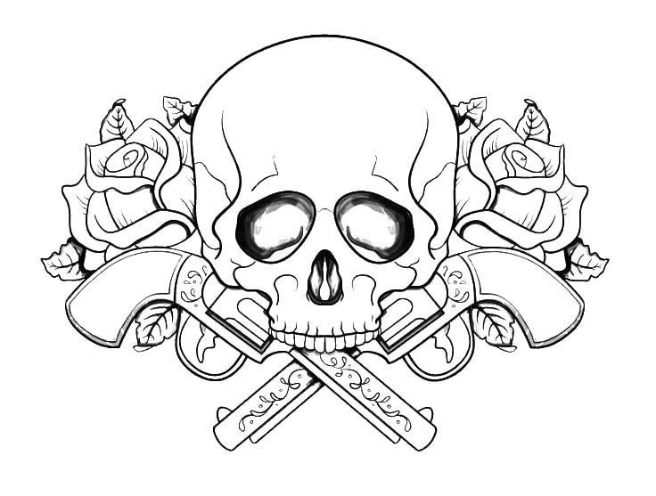 Tattoo Coloring Pages For Adults - Best Coloring Pages For Kids Skull Coloring  Pages, Coloring Pages To Print, Flower Coloring Pages