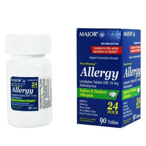 Loratadine 10mg Allergy Relief Medicine, Non-Drowsy 90 Tablets