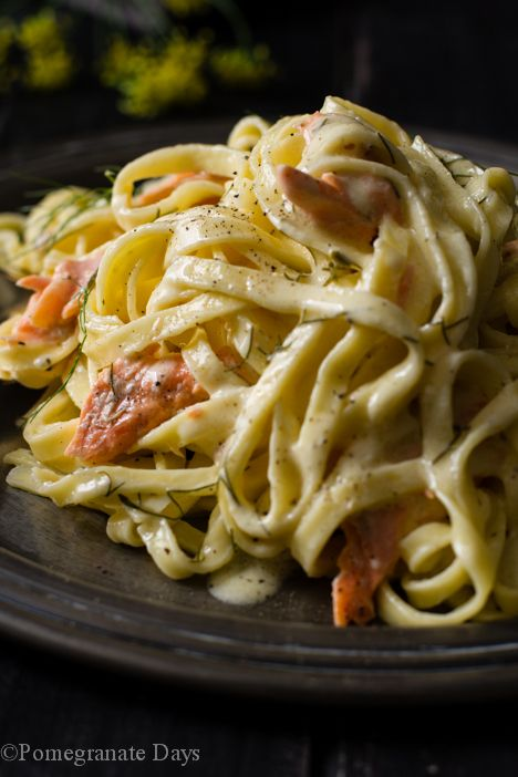 This recipe for Salmon Pasta with a Lemon Cream Sauce is one of my absolute favourite pasta recipes. This is one extravagant pasta dish, I will admit. This Salmon Pasta with its simple fresh flavors and ease of preparation could easily be your next dinner party meal.