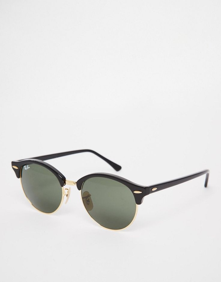 Ray-Ban+Clubmaster+Round+Sunglasses