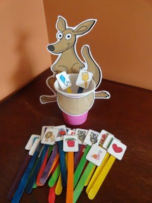 Kangaroo Pouch Sound/Letter Match Activity (from Izzie, Mac and Me)