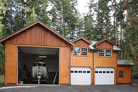 96 best garages images on pinterest garage builders for Attached garage kits