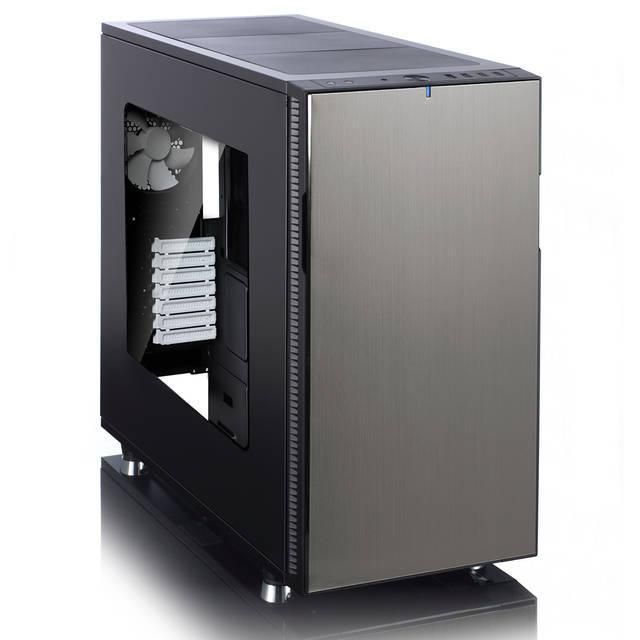 Fractal Design Define R5 No Power Supply ATX Mid Tower w- Window (Titanium)