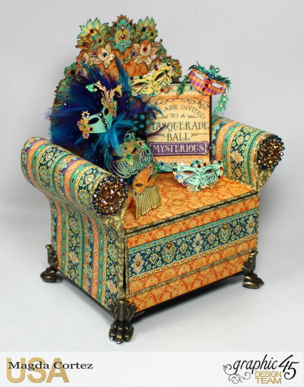 Mysterious Chair Mini Album, Midnight Mascarade, By Magda Cortez, Product by Graphic 45, Photo 13 of 13