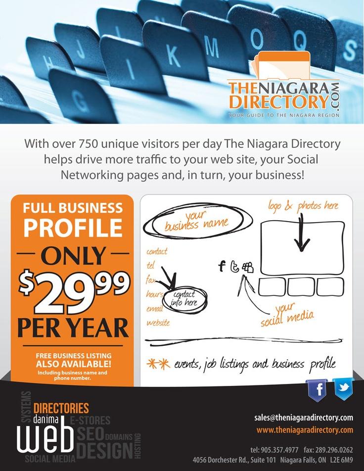 DANIMA has been powering Niagara's number one online business directory - The Niagara Directory - since 2001