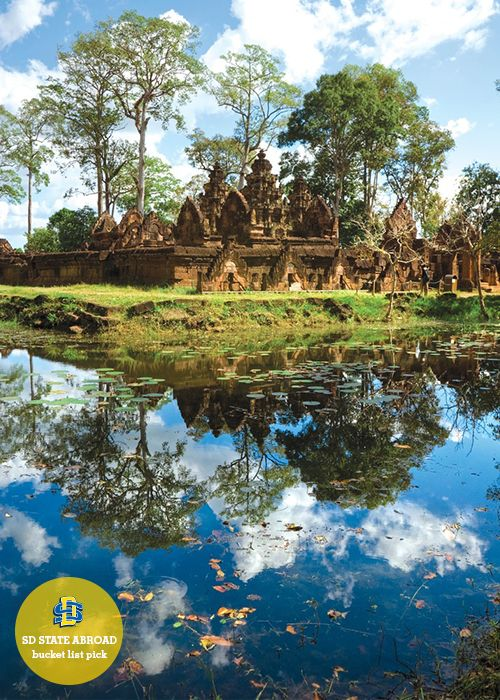 "CAMBODIA // ""I want to see their ancient structures."" - Kasey Williams, CDE Program Assistant #bucketlist #explore #wanderlust"