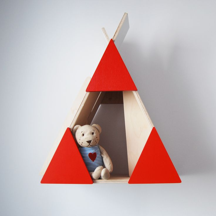 wooden teepee made by Playwood- natural wooden furniture
