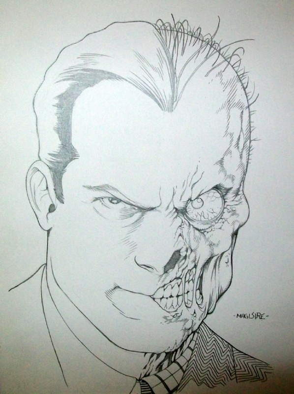 Image detail for -Two Face, in Neil Hill's Kevin Maguire Comic Art Gallery Room