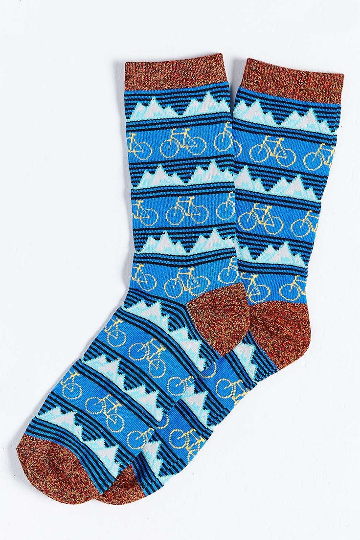 Mountain Bike Icon Sock - http://www.urbanoutfitters.com/urban/index.jsp?cm_sp=SITE_HEADER-_-HOME-_-index.jsp