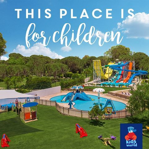 There is a special world at Sirene Belek only for kids full of colors and fun.