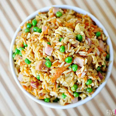 Easy Fried Rice @keyingredient #pork #delicious #vegetables #onepot #shrimp #easy #chicken