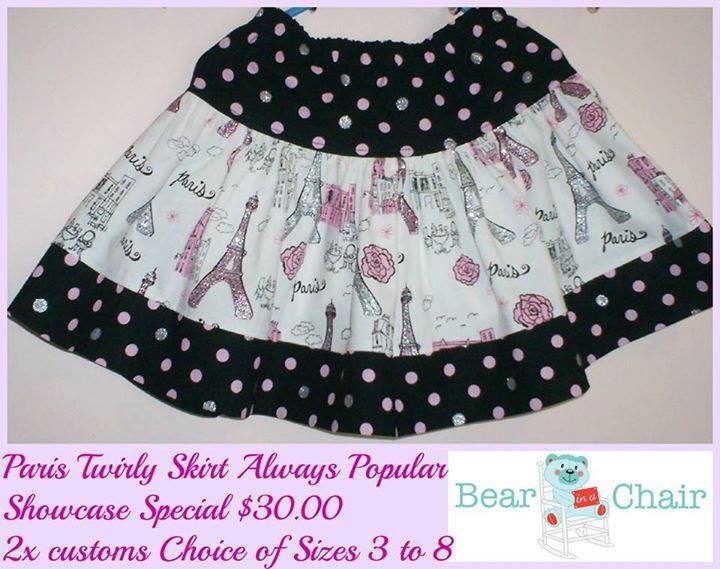 Handmade By Bear In A Chair  Twirly Paris Skirt