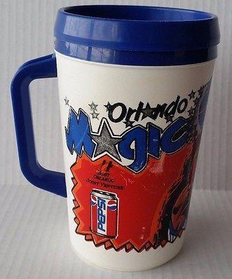 Orlando Magic Thermos Mug NBA Basketball Playoffs 1995 Vintage Insulated Cup