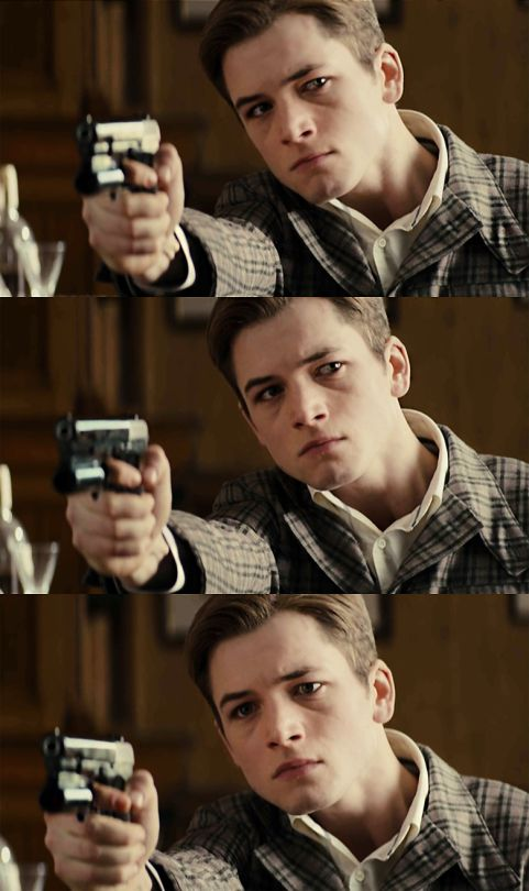 That's quite a range of subtle emotions in those few seconds!  Amazing talent and likeability from Taron Egerton, Kingsman (2015)