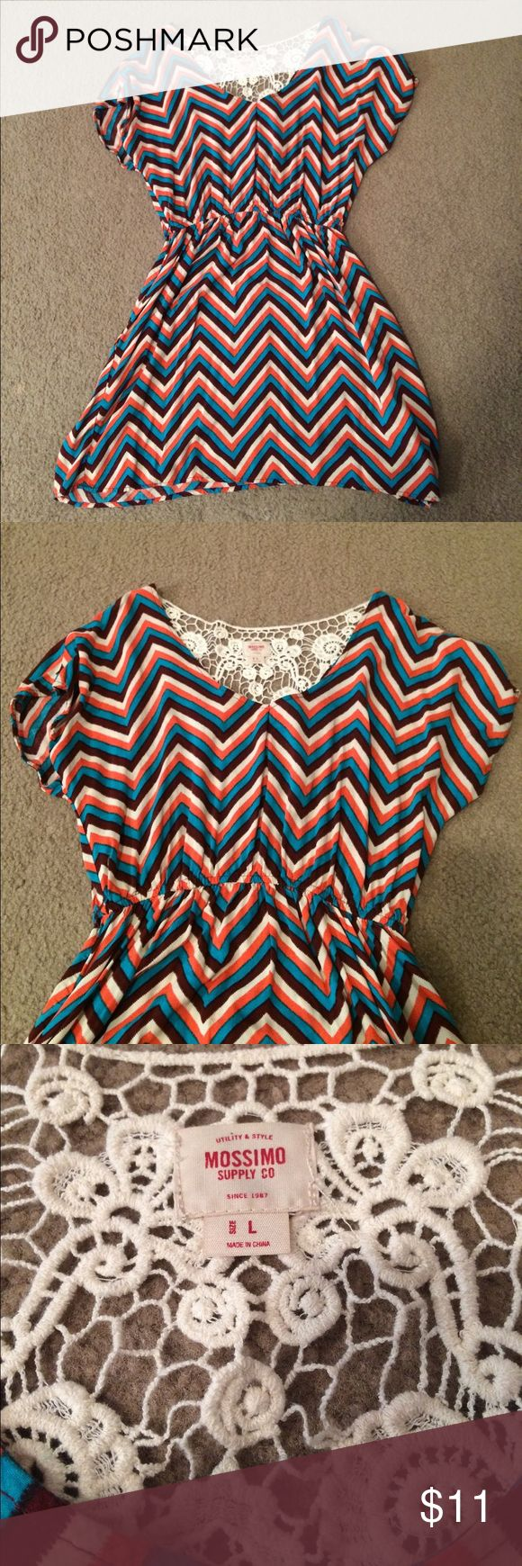 """$6 chevron print dress Euc! ✔The price in the beginning of the title of my listings is the bundle price. These prices are valid through the """"make an offer"""" feature after you create a bundle. These bundle orders must be over $15. Ask me about more details if interested.  ❌No trades ❌No holds Mossimo Supply Co Dresses"""