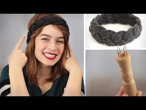DIY: Stirnband flechten aus Strickliesel-Schnüre - Stricken für Anfänger - YouTube