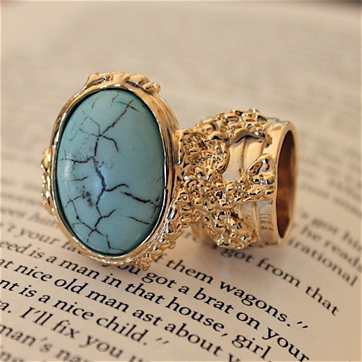 Image of Knuckle Gold Finger Ring-Turquoise: Fingers Ringturquoi, Knuckle Gold, Gold Fingers, Knuckle Rings, Rings Da, Arti Rings, Rings Turquoise 30, Fingers Rings Turquoise, Several La