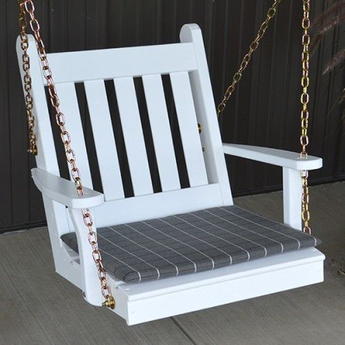 A Amp L Furniture Co Traditional English Adult Painted Swing