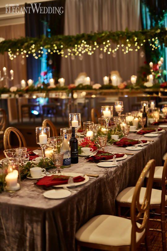 Red & Gold Fall Wedding Theme | Wedding Table Settings | Pinterest ...