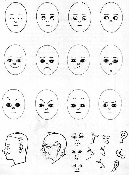 how to draw funny cartoon faces