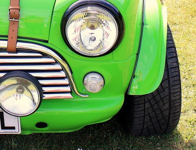 Austin Mini In Lime Green