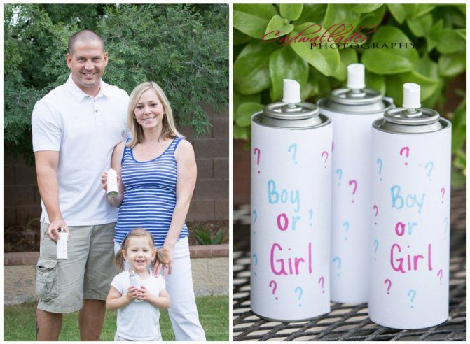 The Most Creative Gender Reveal Ideas love the silly string to celebrate with