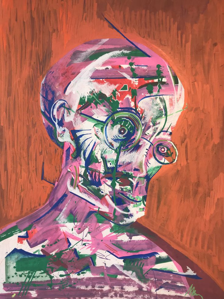 Portrait, Marker on paper, A3, 2017