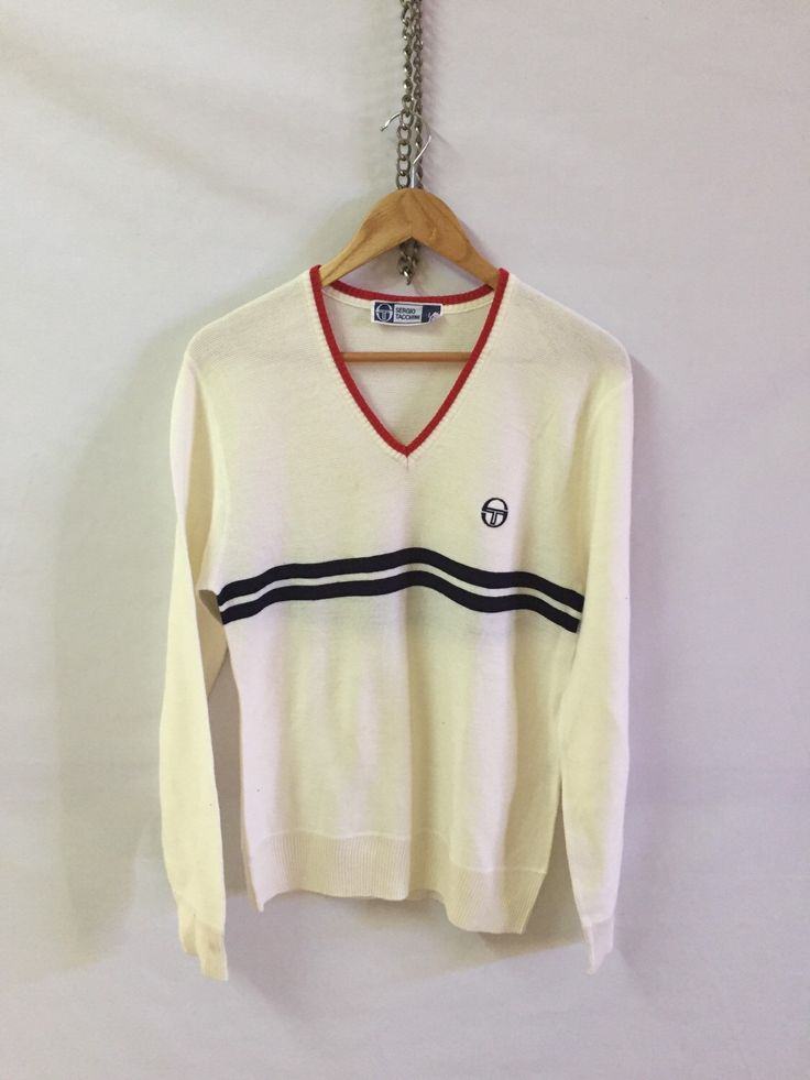 A personal favourite from my Etsy shop https://www.etsy.com/listing/288104319/sale-vintage-sergio-tacchini-pit-19-hand