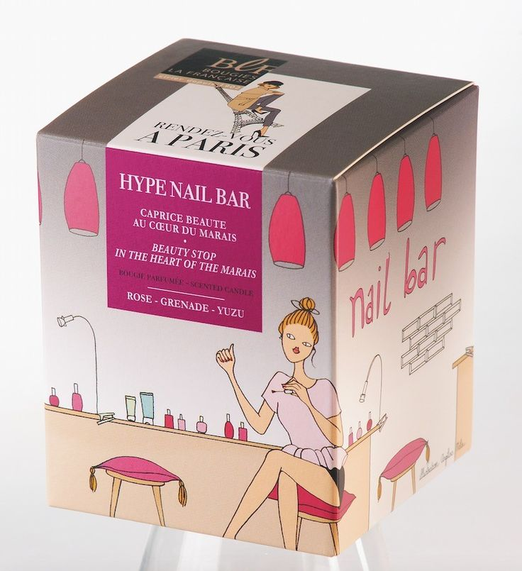 Hype Nail Bar candle will take you on a beauty stop in the heart of the Marais. Designed in France by the famous Angeline Melin, you will be inspired by a subtle fragrance of pear, rose, lychee - cassis, brown sugar and sandalwood.