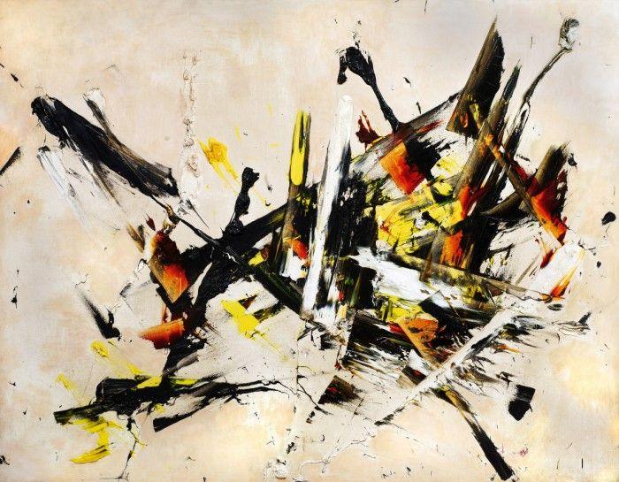 Reigl Judit_ Kép a Robbanás sorozatból, 1956, olaj, vászon, 138x176 cm