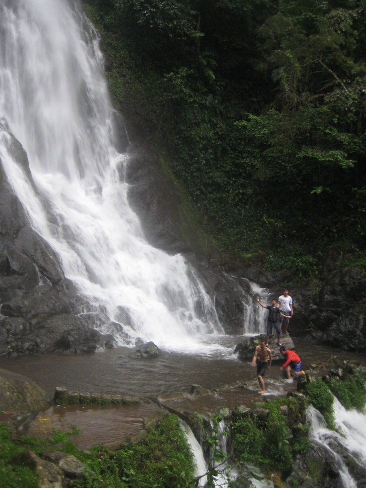 Curug tujuh water fall in Ciamis, Indonesia
